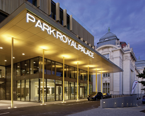 The Austria Trend Hotel Park Royal Palace, close to Schönbrunn castle and directly beside the Technical Museum
