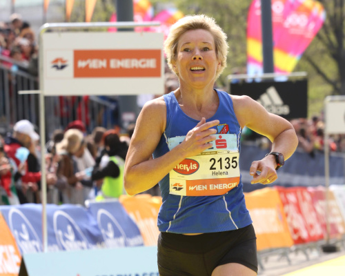 Helena Hallgren, W45 age group winner at the Vienna City Marathon. Picture: VCM / FinisherPix