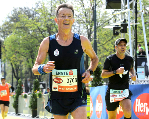 Ivan Milosev from Croatia, M65 age group winner at VCM 2019 in 3:15:31. Picture: FinisherPix