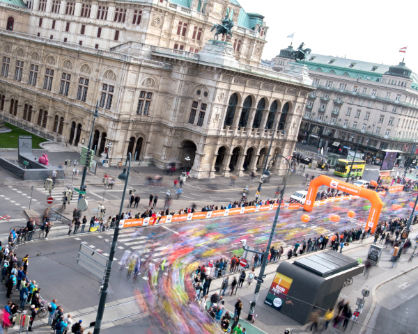 Vienna State Opera during the Vienna City Marathon. Picture: VCM / Michael Gruber