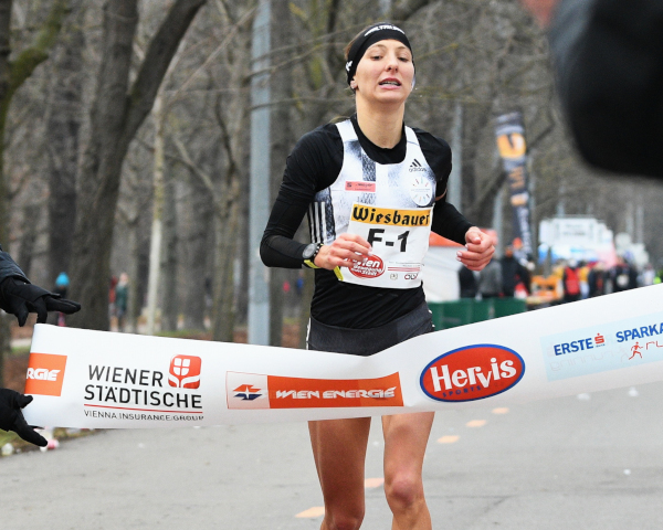 Eva Wutti equals the Austrian national record of 2:30:43. Picture: ÖLV / Alfred Nevismal